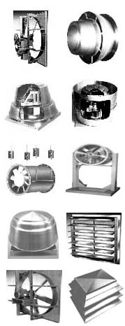 Sales of industrial fans, blowers, ventilators.